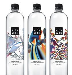 LIFEWTR Art Through Technology Bottles