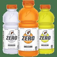 Gatorade Zero in three flavors